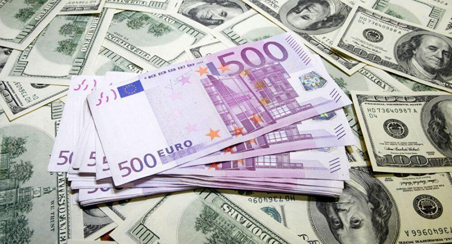 євро до долара
